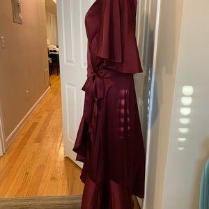 Soprano Dresses - Cabernet colored wrap dress